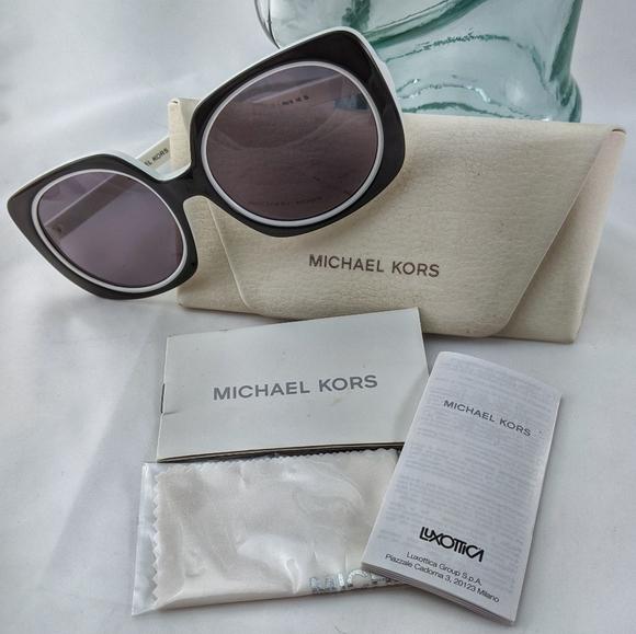 Auth. Michael Kors black and white sunglasses